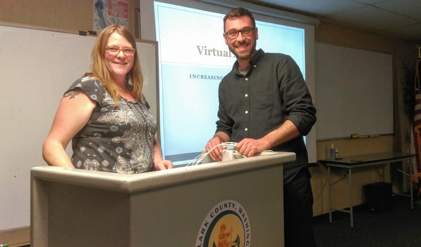 Eileen Cowen & Eric Lambert at the WSU Extension Ag Entrepreneurship Course
