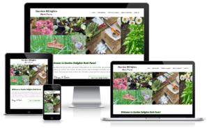 garden delights website on different screens